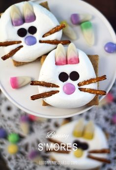 Make some adorable Bunny S'mores for your Easter celebration! Wouldn't these be fun for the kids' table?