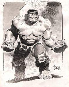 pixoholic — Hulk by Lee Weeks Comic Book Artists, Comic Book Characters, Comic Artist, Comic Character, Comic Books Art, Character Design, Hulk Marvel, Marvel Art, Avengers Art