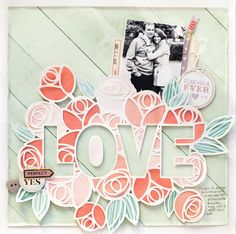 Its never too soon for a romantic layout if your husband's birthday is on Valentine Day 💟💕💖 😃 I created this layout using my January cut file and the beautiful Take Me Away collection from by . Wedding Scrapbook, Baby Scrapbook, Scrapbook Paper Crafts, Scrapbook Albums, Scrapbook Supplies, Scrapbook Organization, Scrapbook Sketches, Scrapbooking Layouts, Husband Birthday
