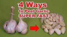 How to peel garlic LIFE HACK. 4 Ways to peel garlic SUPER FAST