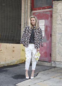 Oh, you know how I like a good bananas print. First do no harm. @Lee Oliveira found this leopard lady #NYFW