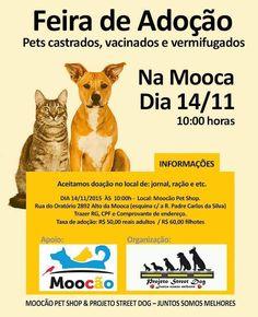BONDE DA BARDOT: Campanha de adoção de animais na Mooca, em São Paulo (14/11)
