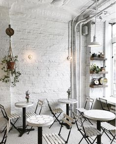 New York City: Trendy Coffee Shops — Ariana Katsigiannis Coffee Shop New York, Coffee Shops, Restaurant Design, Restaurant Bar, Bakery, United States, Lifestyle Fashion, Furniture, Nest
