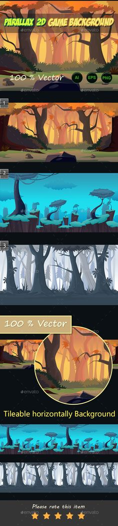 parallax 2d game Backgrounds on Behance