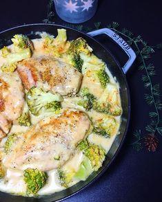 Hähnchenbrust in Brokkoli-Senf-Sahnesauce