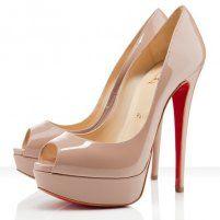 Christian Louboutin Lady Peep Toe 150mm Pumps Nude, Louboutins Men & Women Shoes Outlet Online Sale.