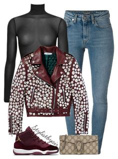 """Untitled #6756"" by stylistbyair ❤ liked on Polyvore featuring Yves Saint Laurent and Gucci"