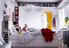 kids bedroom designs white bed with back storage use as bookshelf