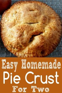 Best Homemade Pie Crust Recipe Single or Double Recipe for Two This recipe for the Best Homemade Pie Crust makes a flavorful, flaky pie crust that's easy to make and bakes up golden brown and beautiful. Make a single or double 6 inch pie crust. Single Serve Desserts, Single Serving Recipes, Small Desserts, Great Desserts, Dessert Recipes, Breakfast Recipes, Dessert Ideas, Brunch Recipes, Delicious Desserts