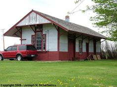 Chicago, Milwaukee, St. Paul & Pacific (Milwaukee Road) originally at Huntley, Minnesota built in 1879. The depot was given to the Amboy Area Community Club free of charge with the condition that it be restored. The project was started in 2011 and the station has now been restored in Amboy, Minnesota.