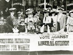 Suffragettes at a Campaign Stand, c.1910