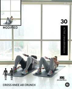 Fitness Workouts, Full Body Hiit Workout, Hiit Workout At Home, Gym Workout Videos, Gym Workout For Beginners, Fitness Workout For Women, Yoga Fitness, At Home Workouts, Abs