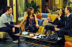 I've always loved Marshall and Lily's apartment on HIMYM, especially the yellow couch!