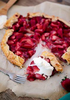 Ohhh yum...Fresh Strawberry Galette