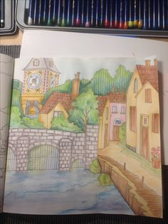 Romantic Country Color By Me Seija With Derwent Inktense And Watercolor Pencils