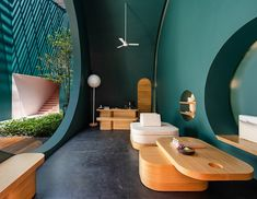 The new Garden Wing at the Sala Samui Chaweng Beach Resort Thailand features a design inspired by the half and new moon phases. White Wash Walls, Outdoor Bathtub, Koh Samui, Samui Thailand, Treatment Rooms, Chiang Mai, Beach Resorts, Bangkok, Swimming Pools