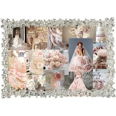 Blush Pink, Silver, Cream, Champagne & Ivory Wedding Colours by bethan-amy-jones on Polyvore