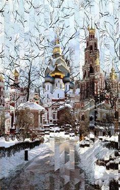 Pat in Moscou - 2010 - 116 x 73 cm    Photographies marouflées sur toile