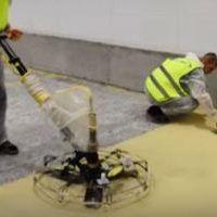 Наливной полиуретан-цементный пол заливка