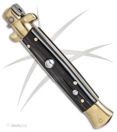 Frank Beltrame 9 Quot White Pearlex Bayonet Switchblade