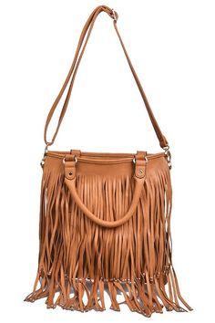 Boho Fringe Bag - Vegan Leather Purse from Boho Accessories Three Bird Nest