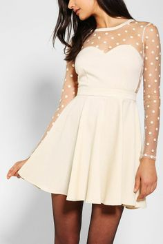 Coincidence & Chance Polka Dot Mesh Dress - Urban Outfitters