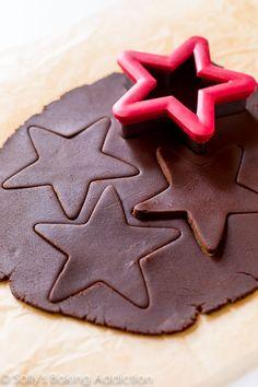 How to make chocolate sugar cookies! Recipe on sallysbakingaddiction.com