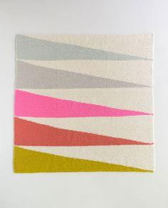 DIY: colorful wedges baby blanket