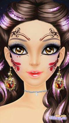 Made on Libii game Halloween Make up Me. Love this game | Libii ...