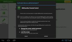 Uninstall Protection: Enabling Uninstall Protection makes it close to impossible to remove the appliction by normal means, without knowledge of the admin password.     #MMGuardian #Protect #Mobile #Uninstall #Protection
