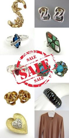 VETERANS DAY WEEKEND SALE - 20% OFF EVERYTHING #vintage #jewelry #rings #bracelets #brooches #earrings #necklaces #jewelrysets