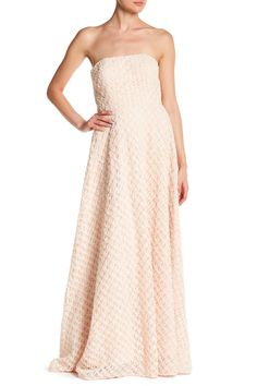 Textured Strapless Gown by Nicole Miller New York on @nordstrom_rack