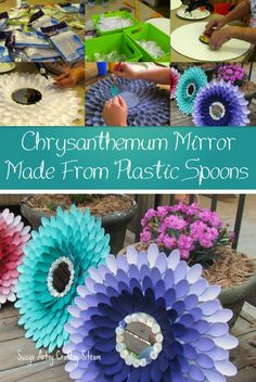 Crafts and DIY Community: Mirrors Made From Plastic Spoons | Crafts and DIY Community