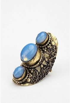 UrbanOutfitters.com > Triple Stone Knuckle Ring - StyleSays