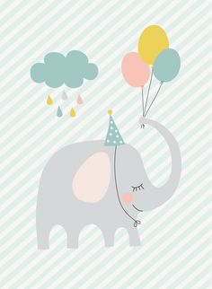 66 Ideas For Birthday Happy Design Art Baby Wallpaper, Birthday Wallpaper, Designer Baby, Happy Design, Elephant Illustration, Cute Illustration, Baby Posters, Cute Poster, Kids Poster