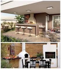 """Képtalálat a következőre: """"espaço gourmet com churrasqueira e fogão a lenha aconchegante em quintal com piscina"""""""