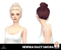 Miss Paraply: Newsea`s Crazy Sakura hair retextured - Sims 4 Hairs - http://sims4hairs.com/miss-paraply-newseas-crazy-sakura-hair-retextured/