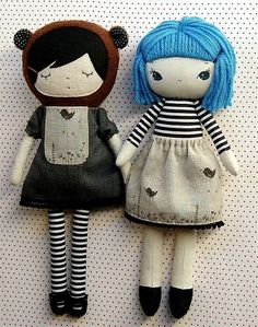 Fabric dolls. by cheryl