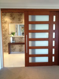 would love a big timber sliding door like this for our main bedroom & Nice looking internal sliding doors to consider called Corinthian ... pezcame.com