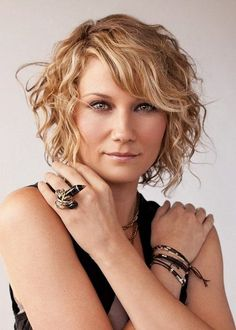 Short Wavy Hair with Bangs | short hairstyles for curly hair with side bangs and layers