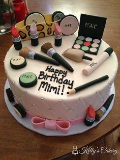 MAC makeup cake - www.KellysCakery.com