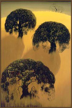 Three Oaks - Eyvind Earle - WikiPaintings.org