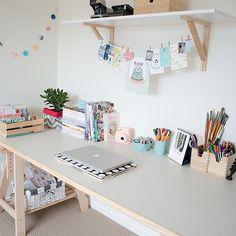 Pretty workspace home office details ideas for interior design decoration Desk Inspiration, Home And Deco, New Room, Office Decor, Office Ideas, Desk Office, Office Spaces, Office Setup, Small Office