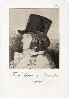Francisco Goya. Plate 1.  Francisco Goya y Lucientes, Pintor<br>(Francisco Goya y Lucientes, Painter).  32031.