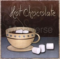 Hot Chocolate art print at Coffee Decor