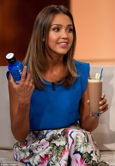 Yum: They drank smoothies made of coconut water, almond butter and bananas