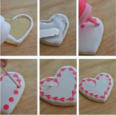 Sugar Cookie Hearts. This is cute, but mine would probably look like cookies with blobs of color on them.