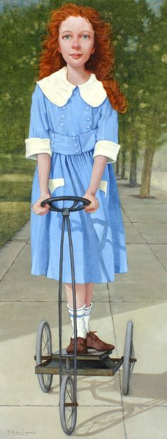 Simple Pleasures, 32 x Oil on Canvas by Fred Calleri at a Scottsdale art gallery Maryland, Sculpture Textile, Live Model, Romantic Images, Bicycle Art, Portraits, Whimsical Art, Quirky Art, Simple Pleasures