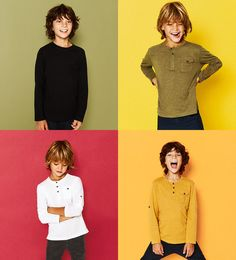 Button neck top - Available in more colours Kids Photography Boys, Kids Fashion Photography, Trendy Kids, Stylish Kids, Zara Kid, Kids Studio, Cute Teenage Boys, Inspiration For Kids, Kid Styles