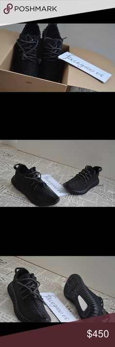 Adidas Yeezy 350 Boost Pirate Black Sz 4-12 New in box, $340 on Poshmark. Text (832) 449-9929 to find out how to get them for $300 ($40 DOLLARS OFF)! Sizes 4-12 available just specify in text before ordering. Authentic! Multiple quantities! :) Yeezy Shoes Athletic Shoes